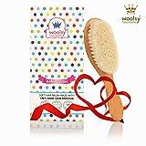 Woolsy Wooden Baby Hair Brush - Beech Wood
