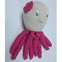 Pulpo amigurumi para recién nacido en color fucsia Pulpo de ganchillo - crochet para bebé.