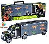 #10: Toys Bhoomi 2 in 1 Dinosaur Safari Transport Car Long Haul Carrier Truck Case - Stores UPTO 6 Dino's