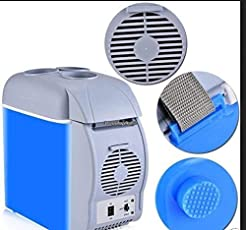 anne -kee 12V 7.5L Portable Thermoelectric Car Cooling & Warming Refrigerator,Blue