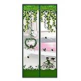 Gosear 39 x 82 pulgadas Anti Mosquito Cortina de Malla para Puerta / Magnética Pantalla Cortina de Anti Insectos con Velcro (Estilo de Dibujos Animado