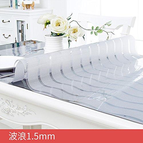 xinhao Soft Glas PVC Wasserdicht Und Ölfesten Tuch Bügeln Mat Wiederverwendbare Transparente Tischdecke, Wave 1.5, Angepasste Preis Ändern