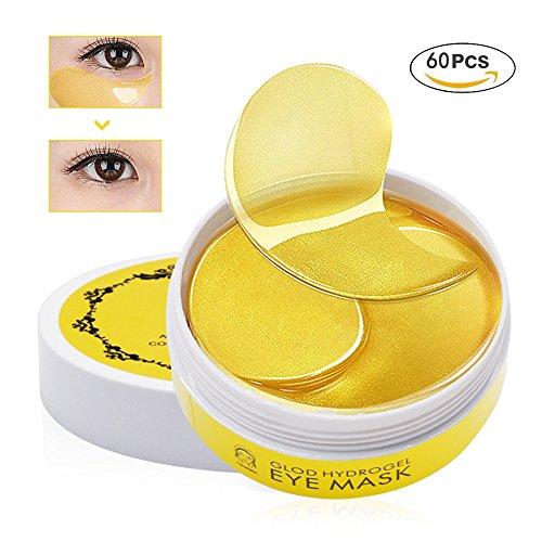 Charmss Collagen Eye Mask, Kollagen Augenpads, Anti-Falten Pads, Kollagen Golden Eye Gel Feuchtigkeit spendende Anti Falten Anti Aging Maske, Entfernen Taschen dunkle Kreise & Puffiness (60Pcs). (Anti Puffiness Augen)