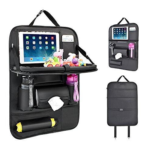 Protezione Sedile Auto Bambini, Proteggi Sedili Auto Bambini Organizer Auto con Multi-tasca e tavolino pieghevole iPad porta tablet auto -1P