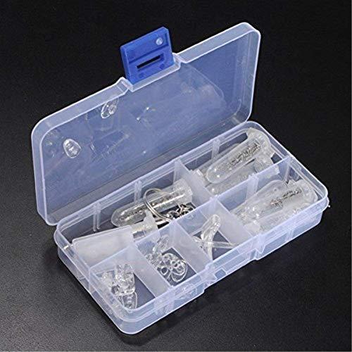 Vikenner Brille Brille Optical Repair Tool Schraubenmutter Nase Pad Set Transparent Durable Brillen Sortiment Kit Set