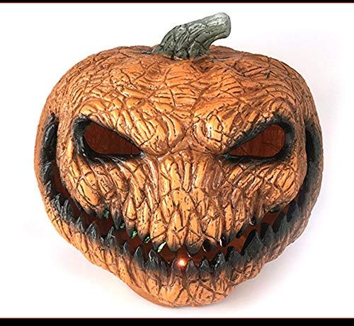 Kostüm Spielt Weihnachten Für - QWERT Halloween Kürbis Licht Horror Maske Weihnachten Lustiges Latex Tanzparty Kostüm Spielt Geister Festival Lustige Maske
