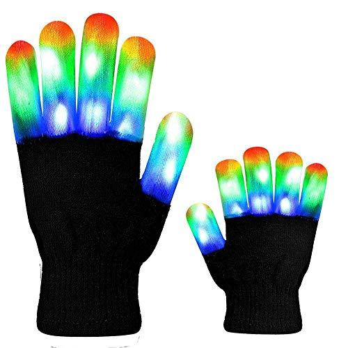 (ZDYLL Die Blinkenden LED Light Handschuhe - Kindergröße und Erwachsenengröße - Extra Batterien)