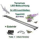 Aquarium-Plüderhausen Terrarium LED-Beleuchtung 200 cm,LED Leuchtbalken,LED Pflanzenlicht, Terra Licht