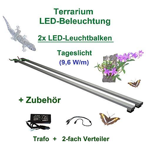 Aquarium-Plüderhausen Terrarium LED-Beleuchtung 160 cm,LED Leuchtbalken,LED Pflanzenlicht, Terra Licht
