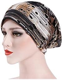 1636aafa2281 Femmes Slouchy Bonnet, Diadia Mode Chapeau Inde Femme musulmane à volants  Coton Cancer Chapeau Pearl Bonnet Écharpe Turban…