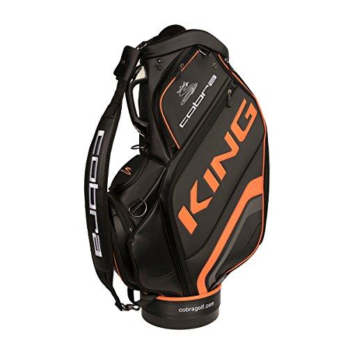 Cobra King Staff Bag Golfbag black orange Puma Golftasche extra groß, Farbe:Schwarz