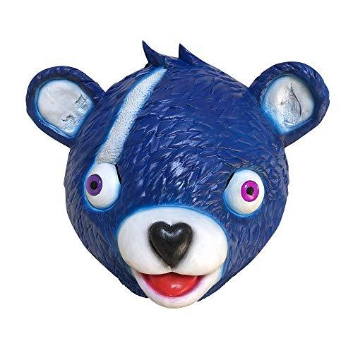 Rosa Große Bär Kostüm - Miminuo Neuheit-Spielzeug-Halloween-Kostüm-Partei-Spiel-Latex-Tier-Volle Hauptmaske-Umarmungs-Team-Führer Bärn-Spiel-Maske (Blue)