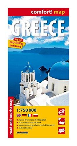 Grecia, mapa carreteras. Escala 1:750.000. Expressmap