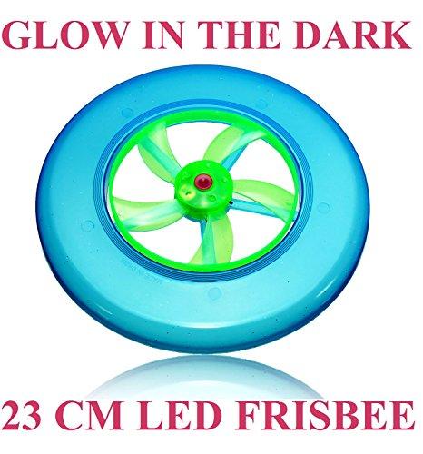 cpuk (TM) Licht LED Glow in the Dark bis Frisbee Flying groß 23cm Untertasse Disc beleuchtet Outdoor UFO Kinder Hund Spielzeug Geschenk Glowing Spin Schwungrad