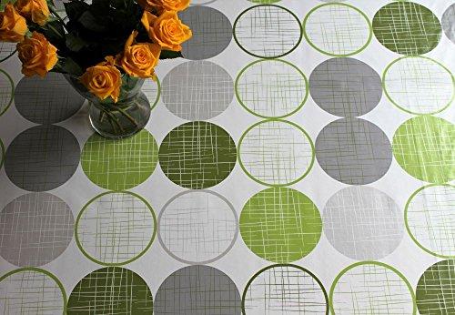 Mantel hule, vinilo, PVC fácil lavado círculos color