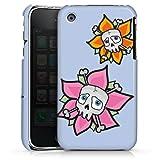 Coque Compatible avec Apple iPhone 3Gs Étui Housse Fleur Tête De Mort Crâne
