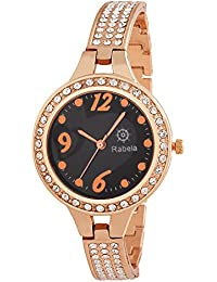 Rabela Women's Analogue Black Dial Watch RAB-824