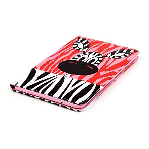 Samsung Galaxy Tab A Hülle,Samsung Galaxy Tab T550 Ledertasche - Felfy PU Ledertasche Luxe Bookstyle Flip Standfunktion Magnetverschluss Ledertasche Muster Möwe Eule Schmetterling AugeBunte Malerei Re Zebra