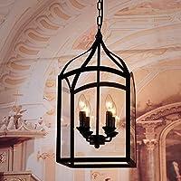 OLQMY-Lampadario in vetro di paese di ferro , 4