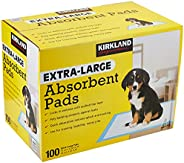 Kirkland Signature Absorbent Pads, White, KS ABSORBENT PADS, Extra Large Absorbent Pads, 100 Count (Pack of 1)