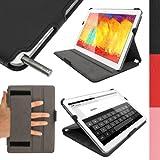 """iGadgitz U2677 10.1"""" Dossier Noir étui pour tablette - étuis pour tablette (25,6 cm (10.1""""), Dossier, Noir, Cuir, Samsung, Galaxy Note 10.1 2014 SM-P600)"""