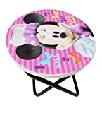 #5: Kabello Folding Study Table Round Shape Cartoon Design Folding Stool Table for Kids Room, 150 Grams, Multicolor, Pack of 1