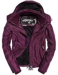 Superdry Ladies Techincal Hooded Pop Zip Windcheater Jacket in Purple