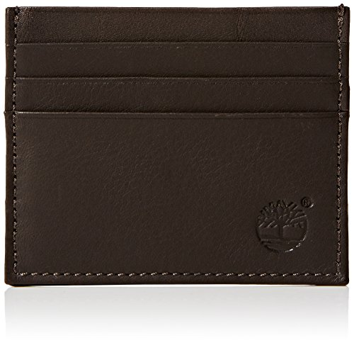 Timberland Mens TB0M2539Credit Card Holder Brown Brown Cocoa 968