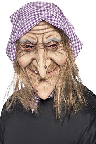 Smiffy's 37194 Alte-Hexe-Maske, (Kostüme Frau Halloween Ideen)