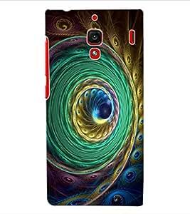 ColourCraft Beautiful Peacock Feather Design Back Case Cover for XIAOMI REDMI 1S