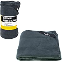 Milestone Camping    Outdoor Thermal Polar Fleece Blanket available in Charcoal - Size 150 X 120 cm