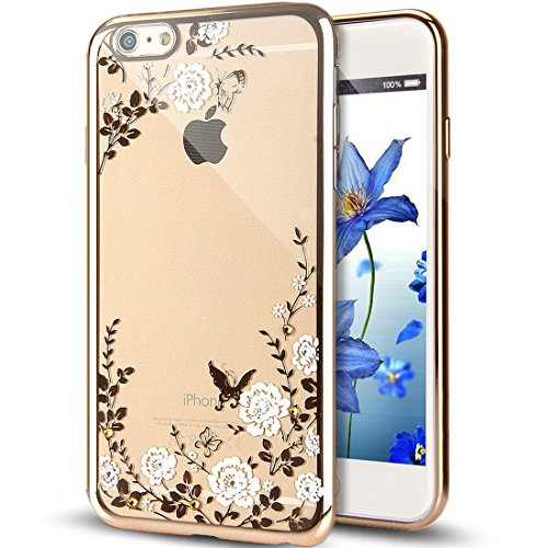 Bling Bling Coque pour iPhone 7 Plus,Silicone Coque pour iPhone 7 Plus,Transparente Coque pour iPhone 7 Plus,iPhone 7 Plus Coque Bling Diamant Cœur Etui Housse,EMAXELERS iPhone 7 Plus 5.5 Pouce Crista TPU 125