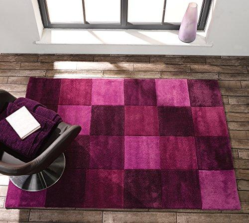 r Hochwertiger quadratisch Design Marmor, weiche Teppich in verschiedenen Größen und Farben, Teppich, aubergine, 120x170cm (4'x5'6'') ()