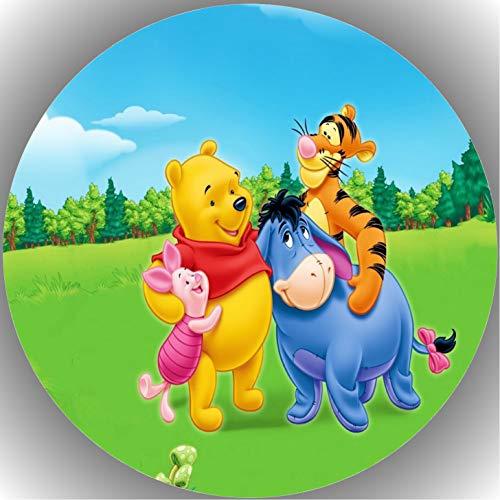 Premium Esspapier Tortenaufleger Geburtstag Winnie Pooh T25