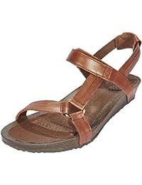 b92d0548432f1 Teva Ysidro Universal Metallic Sandals Women Brown Shoe Size US 8