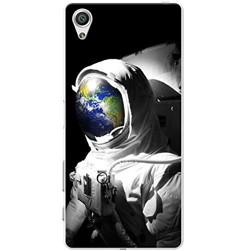 Astronautenanzug & Spiegelbild der Erde Hartschalenhülle Telefonhülle zum Aufstecken für Sony Xperia X