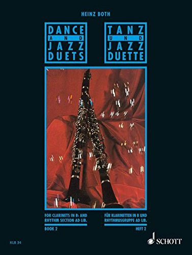 schott-both-heinz-dance-and-jazz-duets-heft-2-2-clarinets-and-rhythm-section-ad-lib-classical-sheets