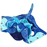 Rrimin Pet Cat Dog Warm Coral Velvet Costumes Dragon Halloween Costume(Blue)(XS)