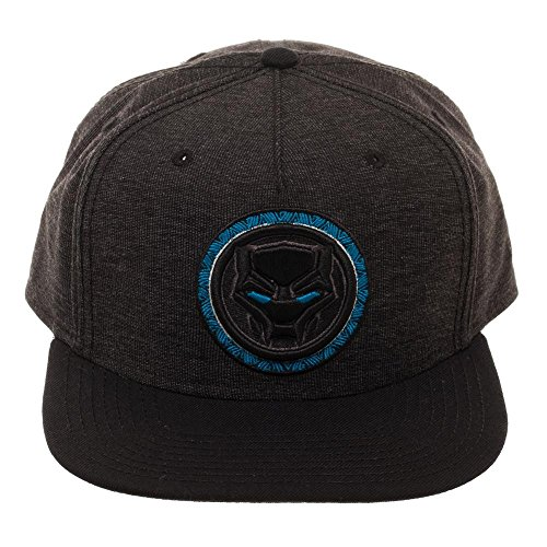 Marvel Black Panther Logo Black Snapback Gorra De Béisbol