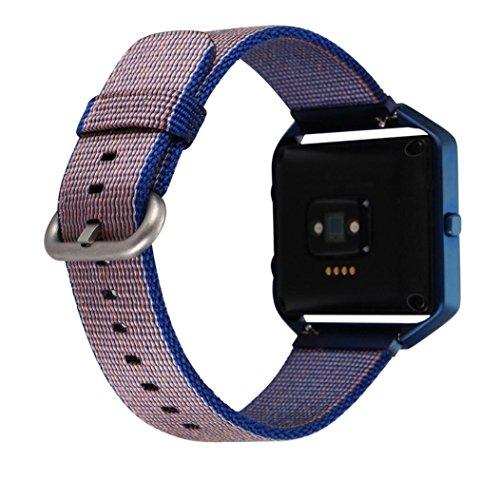 bzliner-nylon-ersatz-uhrenarmband-fur-fitbit-blaze-mit-edelstahl-metallrahmen-dunkelblau