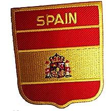 Schneckensekt Flags Patches - Parche adhesivo (6,2 x 7,5 cm), diseño de bandera de España