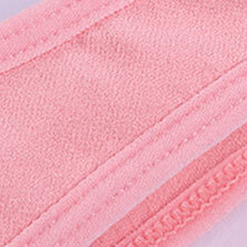 WanYang Donne Reggiseno Pizzo Libero Crop Top Vest Reggiseni Sportivi Comfort Comfy Rosa