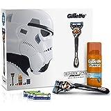 Gillette ProGlide Flexball Star Wars Rogue One - Set de regalo con maquinilla para hombre, 3 recambios y gel de afeitado