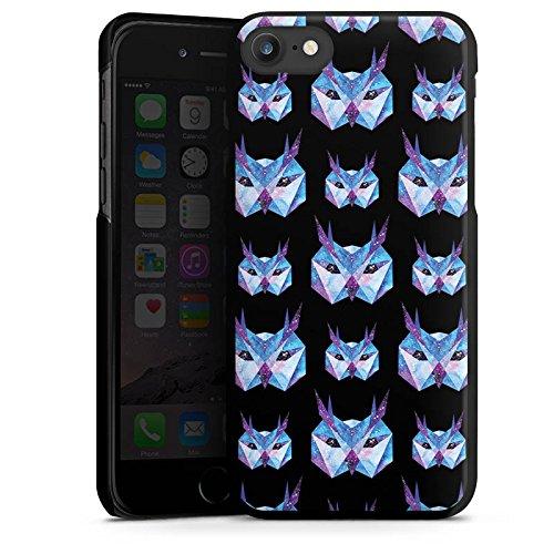 Apple iPhone X Silikon Hülle Case Schutzhülle Eule Space Owl Galaxy Hard Case schwarz
