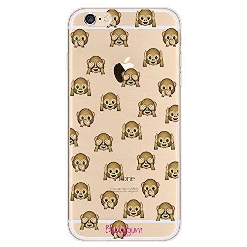 Bubblegum® für iPhone Modelle Mini Tiere Fall Collection–TPU Schutzhülle Soft Gel Artistic Schutzhülle, Mini Ostrich, iPhone 5C Mini Monkeys