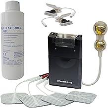 kit d'électrostimulation TENS avec électrostimulateur T-100, sonde vaginale (L=67mm) avec revêtement en or, pinces et gel de contact
