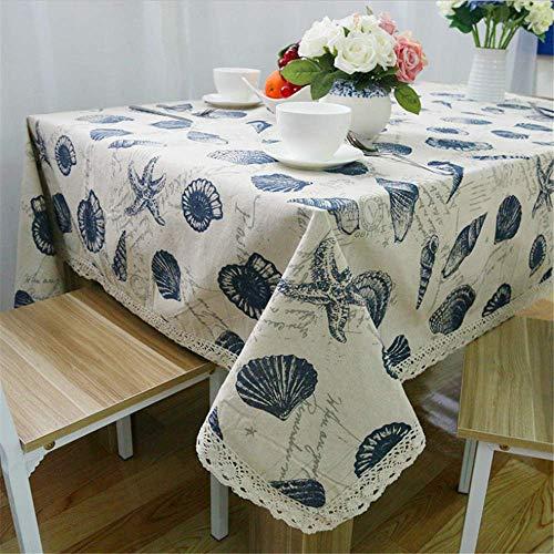 SONGHJ Bohemian Home Dekorative Tischdecke Baumwolle Leinen Spitze Tischdecke Esstisch Abdeckung Für Küche C 100x140 cm