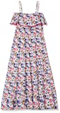 Yumi Girl's Butterfly Floral Dress, Multicolor, 13-14 Years