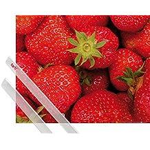 Póster + Soporte: Frutas Póster (50x40 cm) Dulces Fresas Y 1 Lote De 2 Varillas Transparentes 1art1®