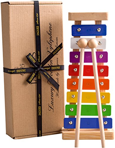 Xylophone - Wooden Toys Make a Great Musical Toys - Inc. FREE SONG SHEETS - Glockenspiel - Perfect for for Budding Musicians with Complete - Finest Quality Since 1795